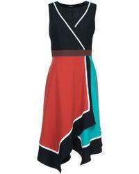 Loveless - Colour Block Asymmetric Dress - Lyst