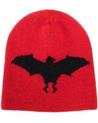 f5e31d077c83c Gucci Intarsia-Knit Wool Beret Hat in Black - Lyst