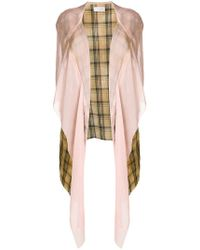 Faith Connexion - Draped Plaid Hooded Jacket - Lyst