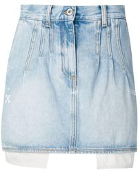 59553f821012 Off-White c o Virgil Abloh - Denim Mini Skirt - Lyst