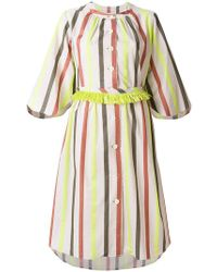 Tsumori Chisato - Striped Button Dress - Lyst
