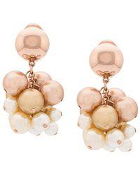 Oscar de la Renta - Pearl Vine Clip-on Earrings - Lyst
