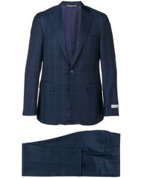 Canali - Checked Two-piece Suit - Lyst