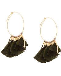 Gas Bijoux - Embellished Hoop Earrings - Lyst