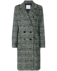 Gaëlle Bonheur - Double-breasted Checked Coat - Lyst