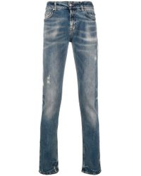 7 For All Mankind - Faded Effect Jeans - Lyst