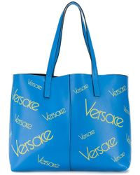 Versace - Large Logo Tote - Lyst