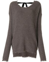 Uma Wang - Distressed Ribbed Knit Jumper - Lyst