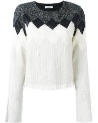 Aviu - Geometric Pattern Knitted Blouse - Lyst