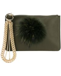 Mr & Mrs Italy - Fur Embellished Clutch - Lyst