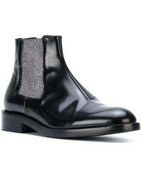 Christopher Kane | Metallic Elastic Chelsea Boots | Lyst
