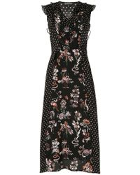 Markus Lupfer - Larissa Star And Floral-print Dress - Lyst