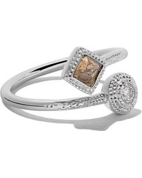 De Beers - 18kt White Gold Talisman Diamond Ring - Lyst