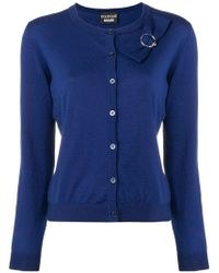 Boutique Moschino - Bow Detailed Cardigan - Lyst