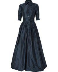 Oscar de la Renta Robe-chemise longue