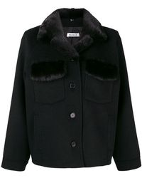 P.A.R.O.S.H. - Buttoned Short Coat - Lyst