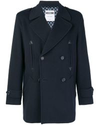 Moschino - Double Breasted Coat - Lyst