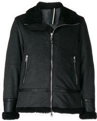 Low Brand - Shearling Zipped Jacket - Lyst