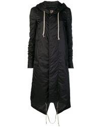 Rick Owens Drkshdw - Zipped Up Raincoat - Lyst