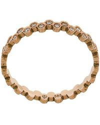 Savoir Joaillerie - 14kt Rose Gold And Diamond She Ring - Lyst