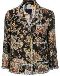 Femme By Michele Rossi - Embroidered Fitted Jacket - Lyst