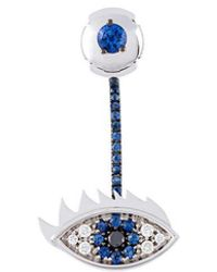 Delfina Delettrez - 'eyes On Me' Diamond And Sapphire Earring - Lyst