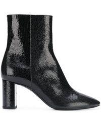 Saint Laurent - Block Heel Ankle Boots - Lyst