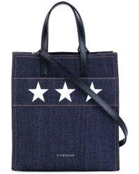 Givenchy - Small Stargate Denim Shoulder Bag - Lyst