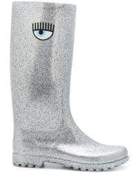 Chiara Ferragni - Glitter Wellington Boots - Lyst
