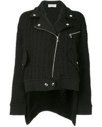 Sonia Rykiel - Cable Knit Biker Jacket - Lyst