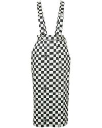 G.v.g.v - Dungaree-style Checkered Skirt - Lyst