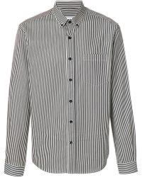 AMI - Striped Button-down Shirt - Lyst