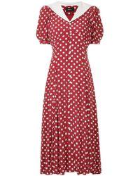 G.v.g.v - Polka Dot Solid Collar Dress - Lyst