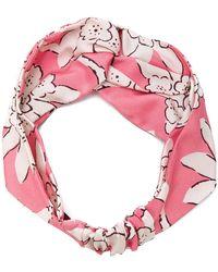 Valentino - Floral Print Hairband - Lyst