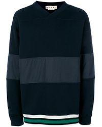 Marni - Stripe Insert Sweater - Lyst