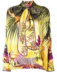 F.R.S For Restless Sleepers - Tropical Print Drape Blouse - Lyst