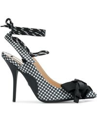 N°21 - Bow Detail Gingham Court Shoes - Lyst