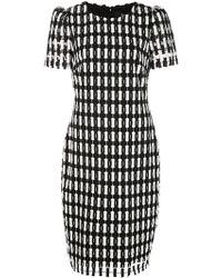 Badgley Mischka - Kleid mit Karomuster - Lyst