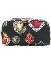 7f223c722ac7 Lyst - Dolce   Gabbana Makeup Bag Cosmetic Case For Women in Brown