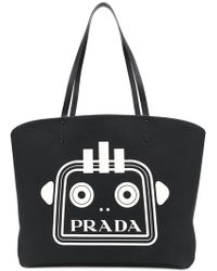 Hot Prada - Bill Logo Printed Tote - Lyst 7f74587e78