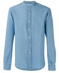 Aspesi - Band Collar Shirt - Lyst