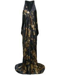Vera Wang - Ormalu Printed Draped Gown - Lyst