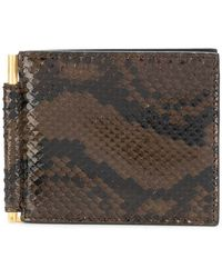 c0801cab24979 Tom Ford - Portemonnaie aus Pythonleder - Lyst