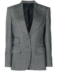Tom Ford - Double-breasted Tweed Blazer - Lyst