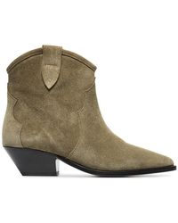8757ede643b Isabel Marant - Taupe Dewina 40 Suede Ankle Boots - Lyst
