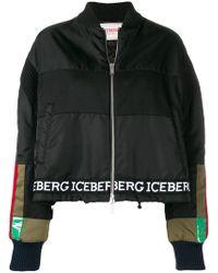 Iceberg - Logo Stripe Bomber Jacket - Lyst