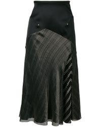 Esteban Cortazar - Contrast Panels Midi Skirt - Lyst