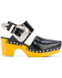 b4f74ffc73c Toga Pulla - Western Buckle Platform Sandals - Women - Leather calf ...