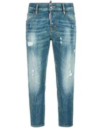 DSquared²   Cool Girl Microstudded Jeans   Lyst