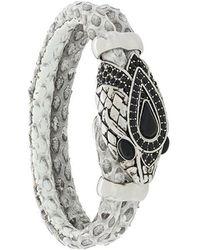 Roberto Cavalli - Embellished Snake Head Bracelet - Lyst
